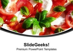 Tomato And Mozzarella Salad Nutrition PowerPoint Templates Ppt Backgrounds For Slides 0313