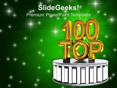Top 100 Words Over Green Shiny Background PowerPoint Templates Ppt Backgrounds For Slides 0213