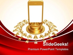 Touch Screen Cell Phone Technology PowerPoint Themes And PowerPoint Slides 0811