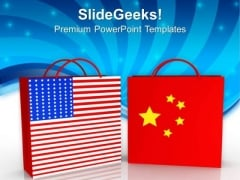 Trading Concept Between Usa And China Business PowerPoint Templates Ppt Backgrounds For Slides 1212