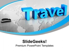 Travel With Mouse Concept Global PowerPoint Templates And PowerPoint Themes 1112