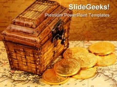 Treasure Money PowerPoint Template 1010