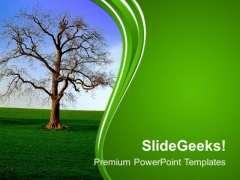 Tree With Abstract Design Background PowerPoint Templates Ppt Backgrounds For Slides 0613
