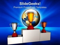 Trophy Award Competition PowerPoint Templates And PowerPoint Themes 0912