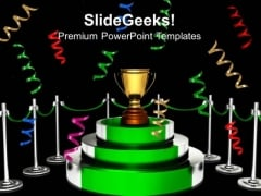 Trophy Cup For Winner Success PowerPoint Templates And PowerPoint Themes 0912