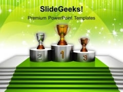 Trophy Winner Success PowerPoint Templates And PowerPoint Themes 1112