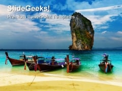 Tropical Beach Thailand Beauty PowerPoint Templates And PowerPoint Backgrounds 0311