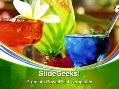Tropical Drinks Food PowerPoint Themes And PowerPoint Slides 0411