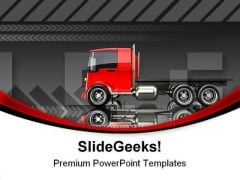 Trucking Travel PowerPoint Themes And PowerPoint Slides 0811