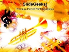 Trumpet Music PowerPoint Themes And PowerPoint Slides 0611