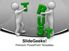 Trust Is Important For Business PowerPoint Templates Ppt Backgrounds For Slides 0613