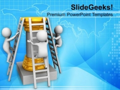 Try To Climb The Ladder Of Success PowerPoint Templates Ppt Backgrounds For Slides 0613