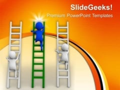 Try To Hold The First Place In Race PowerPoint Templates Ppt Backgrounds For Slides 0613