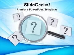 Trying To Focus On Finding Answers PowerPoint Templates Ppt Backgrounds For Slides 0713