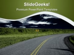 Turn Ahead Nature PowerPoint Themes And PowerPoint Slides 0811