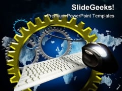 Turning Gears Computer Global PowerPoint Templates And PowerPoint Backgrounds 0211