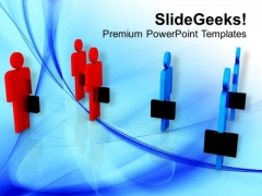 Two Business Teams PowerPoint Templates Ppt Backgrounds For Slides 0413