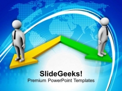 Two Different Directions Business Opportunities PowerPoint Templates Ppt Backgrounds For Slides 0413