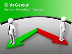 Two Different Directions Success PowerPoint Templates Ppt Backgrounds For Slides 0413