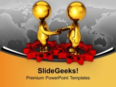 Two Different Gears Can Make Good Relation PowerPoint Templates Ppt Backgrounds For Slides 0613