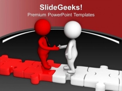 Two Different People Can Make Good Team PowerPoint Templates Ppt Backgrounds For Slides 0713