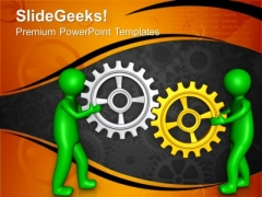 Two Different Person Can Have Gears PowerPoint Templates Ppt Backgrounds For Slides 0713