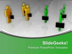 Two Different Teams Meeting Business Promotions PowerPoint Templates Ppt Backgrounds For Slides 0513