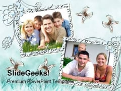 Two Frames Family PowerPoint Templates And PowerPoint Backgrounds 0811