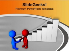 Two Models Shaking Hands PowerPoint Templates Ppt Backgrounds For Slides 0713