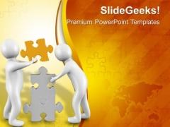 Two People Can Solve Problem Easily PowerPoint Templates Ppt Backgrounds For Slides 0613