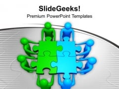 Two Teams Efforts To Find Solution PowerPoint Templates Ppt Backgrounds For Slides 0313