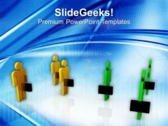 Two Teams For Financial Growth Business PowerPoint Templates Ppt Backgrounds For Slides 0413