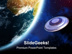Ufo Invasion Globe PowerPoint Themes And PowerPoint Slides 0811