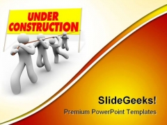 Under Construction04 Architecture PowerPoint Themes And PowerPoint Slides 0811