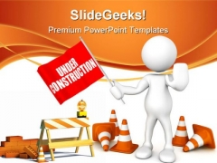 Under Construction06 Architecture PowerPoint Themes And PowerPoint Slides 0811