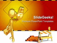 Under Construction07 Architecture PowerPoint Themes And PowerPoint Slides 0811