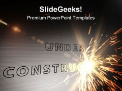 Under Construction Abstract PowerPoint Themes And PowerPoint Slides 0811