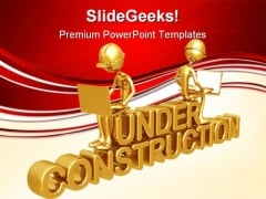 Under Construction Architecture PowerPoint Templates And PowerPoint Backgrounds 0611