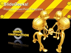Under Construction Architecture PowerPoint Themes And PowerPoint Slides 0711