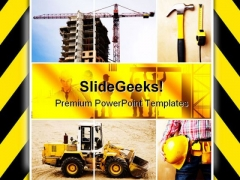 Under Construction Architecture PowerPoint Themes And PowerPoint Slides 0811