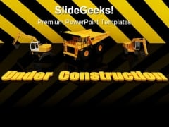 Under Construction Background PowerPoint Templates And PowerPoint Backgrounds 0811