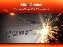 Under Construction Industrial PowerPoint Template 0810