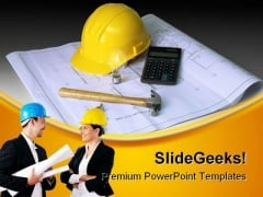 Under Construction Industrial PowerPoint Template 0910