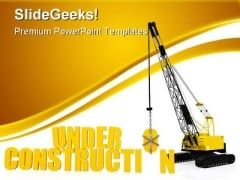 Under Construction PowerPoint Templates And PowerPoint Backgrounds 0511