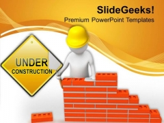 Under Construction Projects PowerPoint Templates Ppt Backgrounds For Slides 0513
