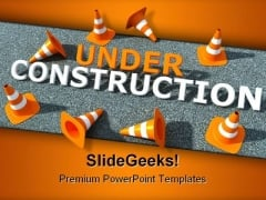 Under Construction Transportation PowerPoint Template 0610