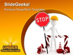 Under Construction Transportation PowerPoint Templates And PowerPoint Backgrounds 0311