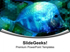 Under Water View With Fish PowerPoint Templates Ppt Backgrounds For Slides 0713