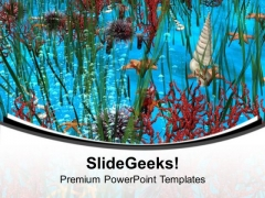 Underwater Background PowerPoint Templates Ppt Backgrounds For Slides 0713