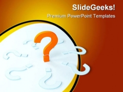 Unique Question Mark Business PowerPoint Templates And PowerPoint Backgrounds 0411